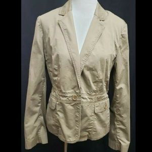 """Talbots Women's Tan Jacket with Pockets -42"""" Chest"""